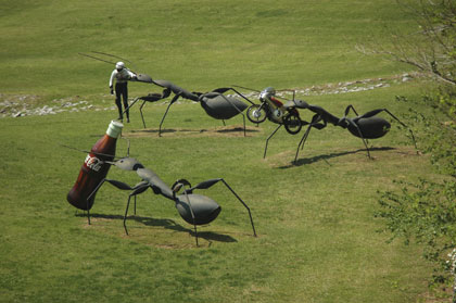 Ant Sculptures at Barber Motorsports Park