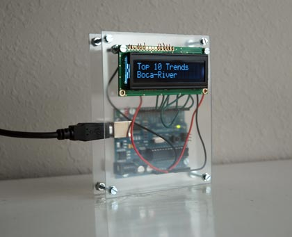 Arduino, Plexiglass and LCD screen