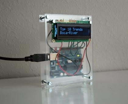 Arduino, Plexiglass and LCD screen