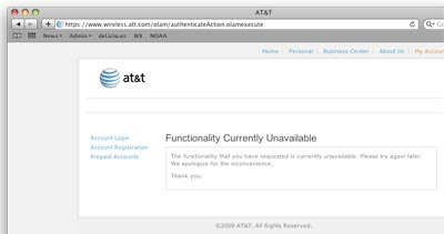 AT∓T Functionality Unavailable