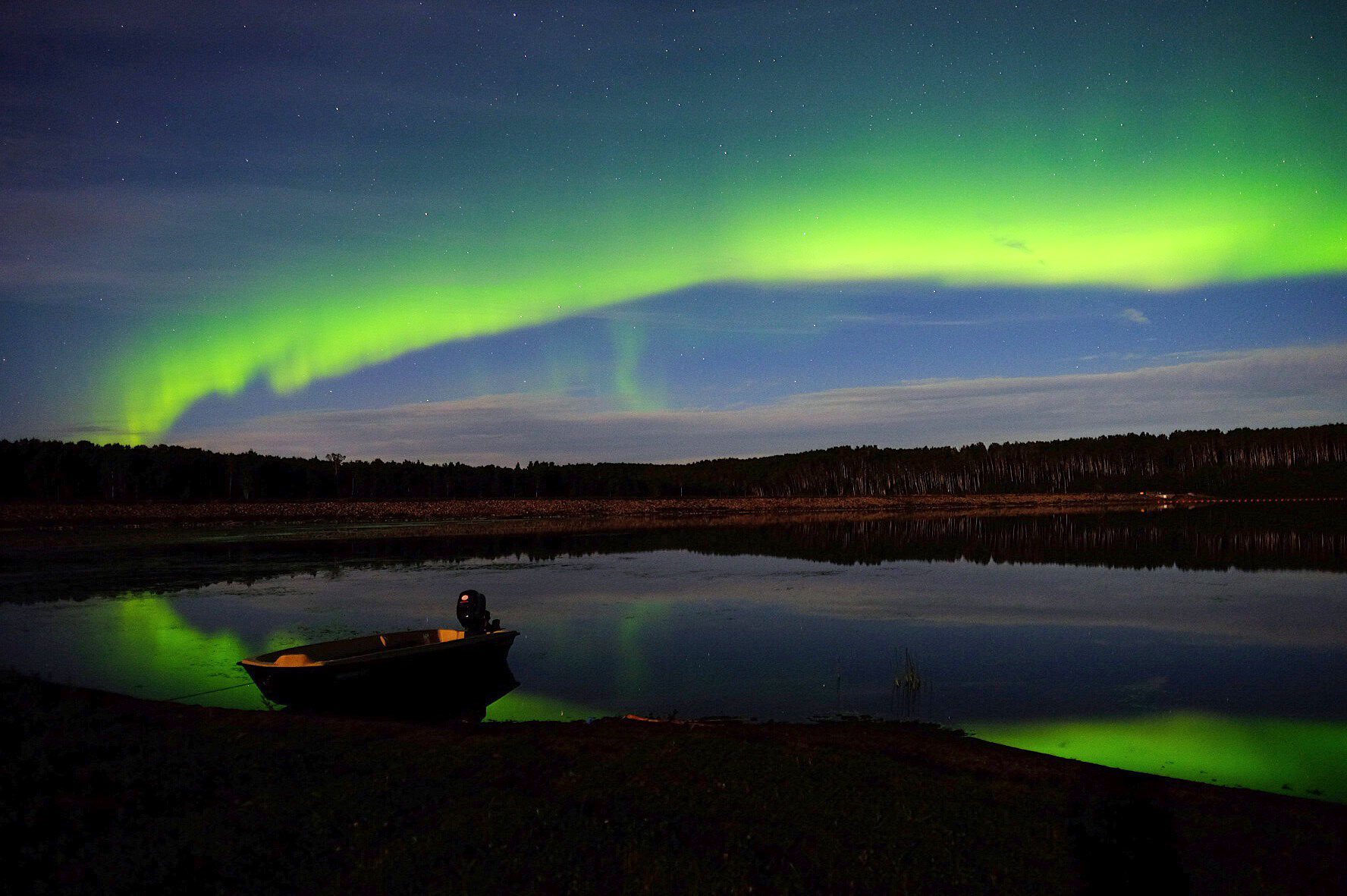 Aurora on Hutch Lake