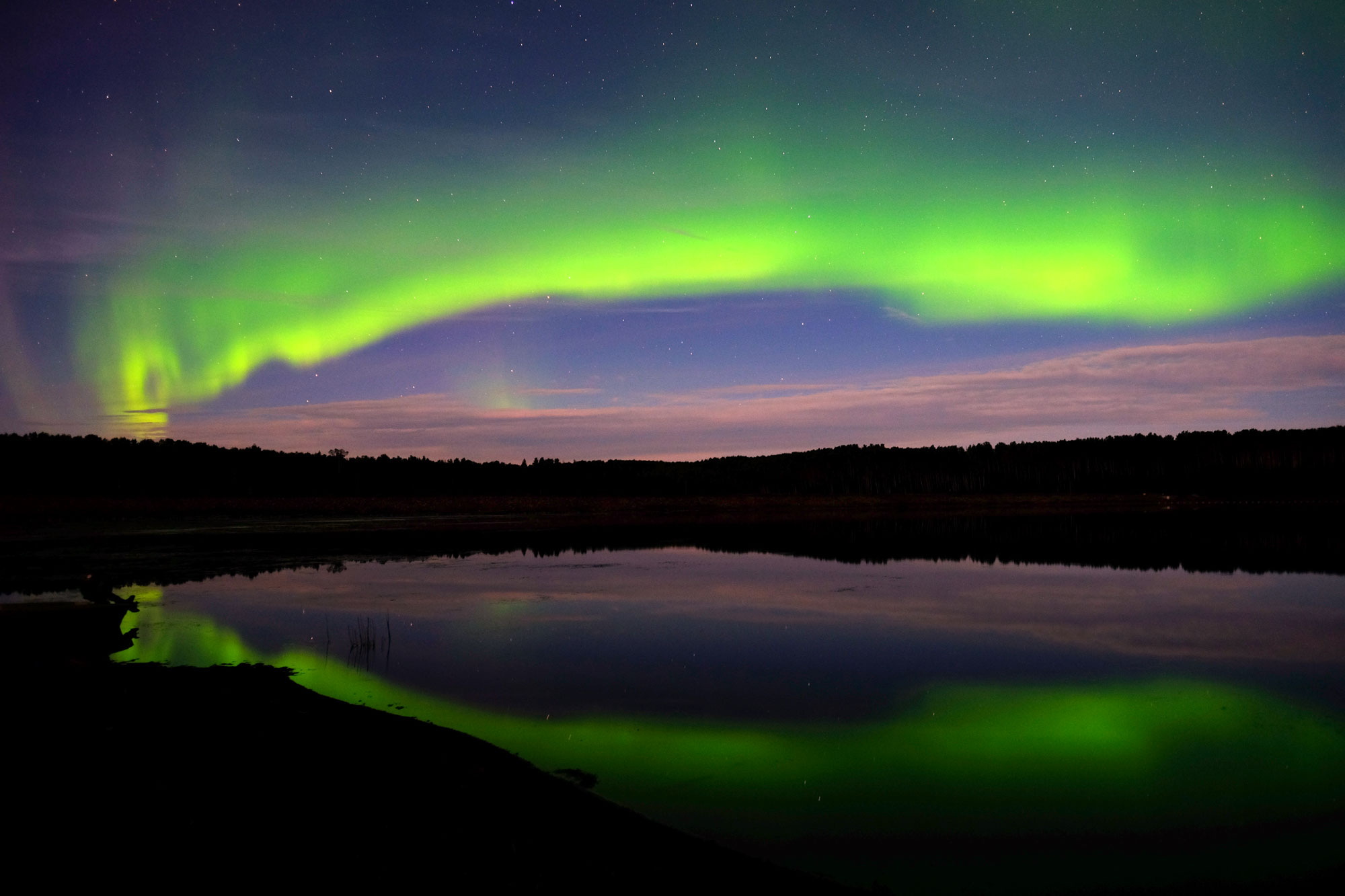 Big Aurora on Hutch Lake