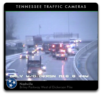 wreck on Briley Parkway - Tennessee Traffic Widget