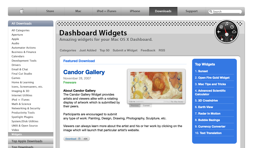 Candor Gallery featured on apple.com