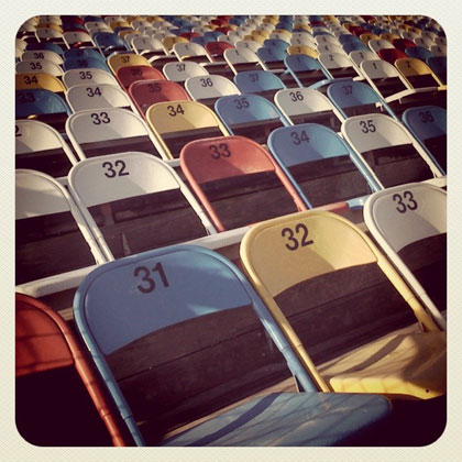 Chairs at Daytona International Speedway