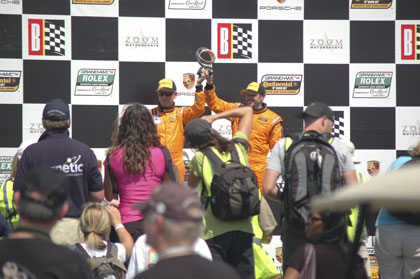 GT Class Winners at Victory Lane