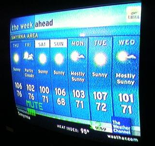 It's hot.