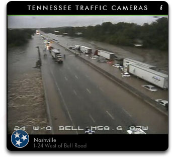 Flooding at I-24 & Bell Rd.