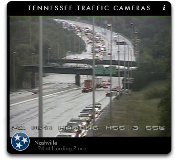 I-24 closed at Briley