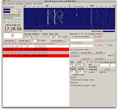 JT65 double signal transmitting with Softrock
