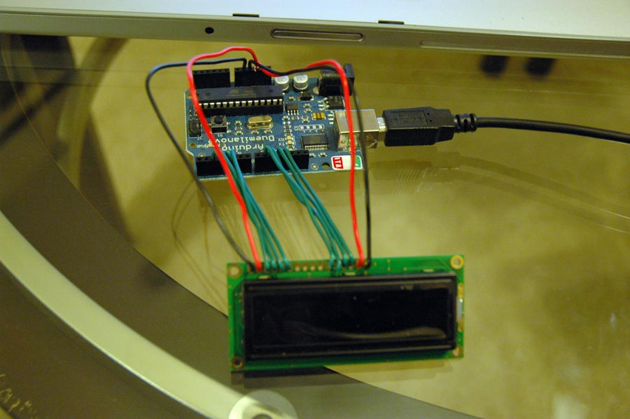 Hooking up a Parallel LCD to Arduino Midnight Cheese