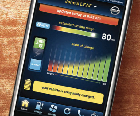 Nissan Leaf iPhone Control
