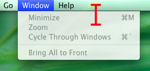 Menu bar. Why?