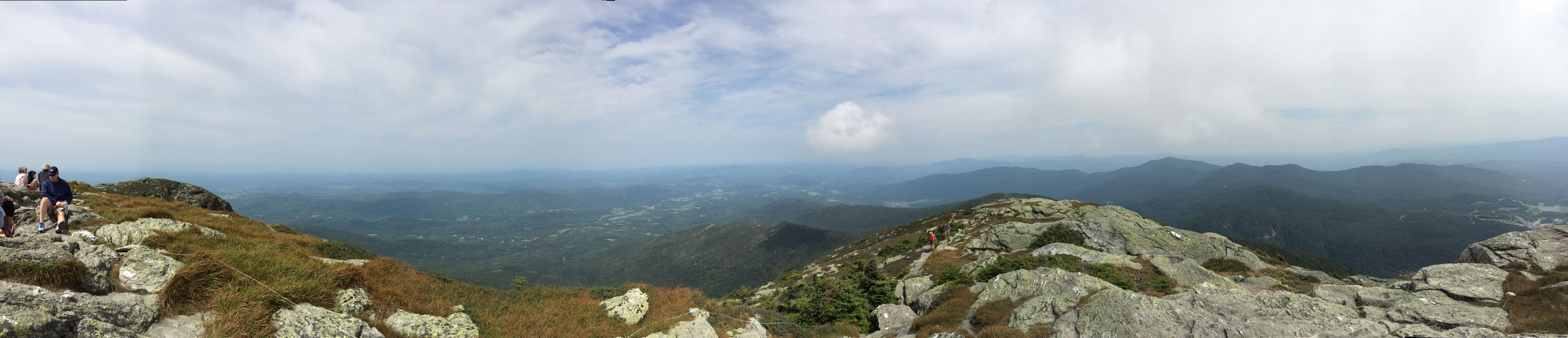 Panorama view from top of Mount Mansfield