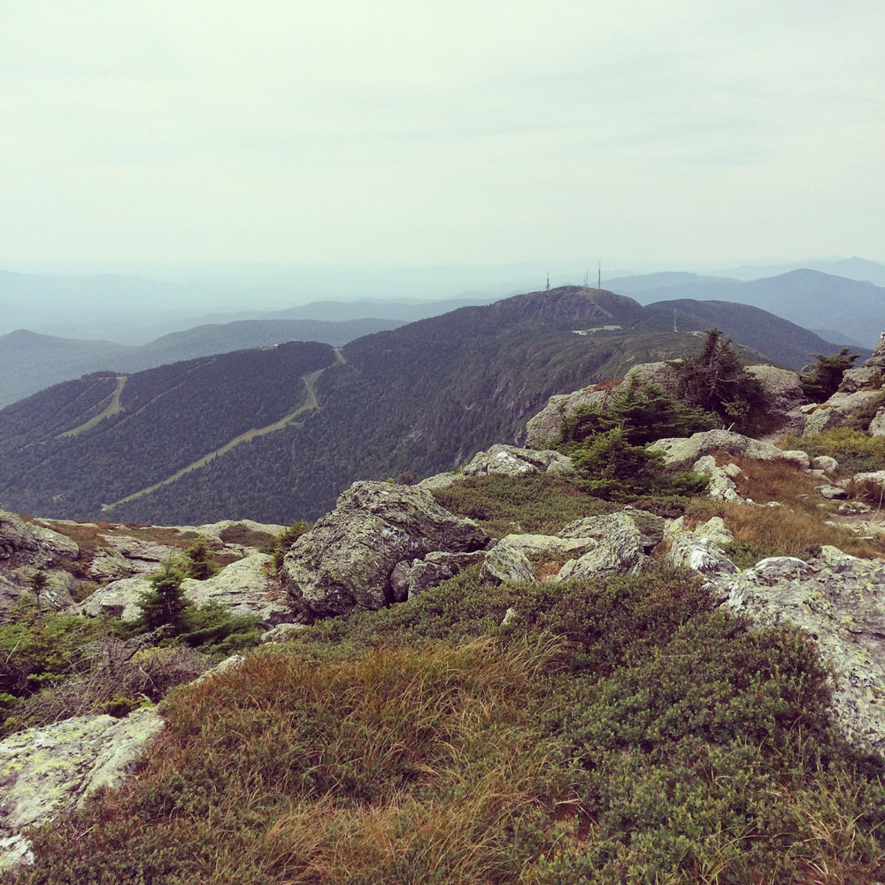 Stowe from top of Mount Mansfield