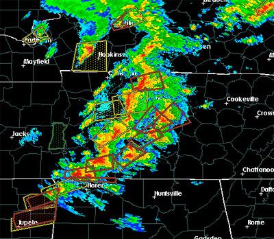 Murfreesboro Tornado Radar