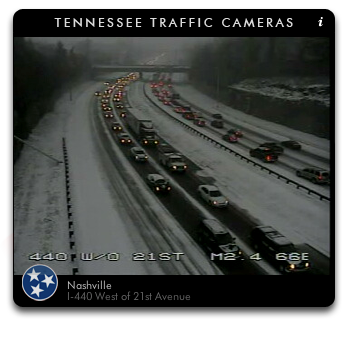 Snow in Nashville I-440