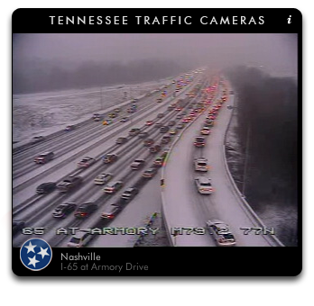 Snow in Nashville I-65
