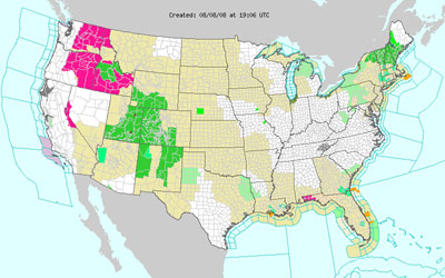 NOAA Alerts Map