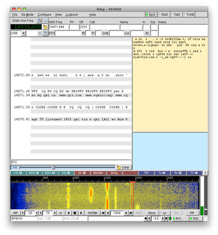 PSK31 Screenshot