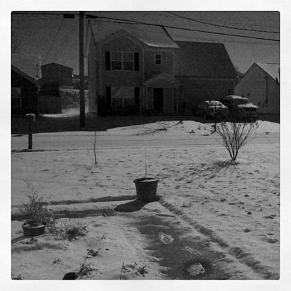 Snow in LaVergne Thursday Morning