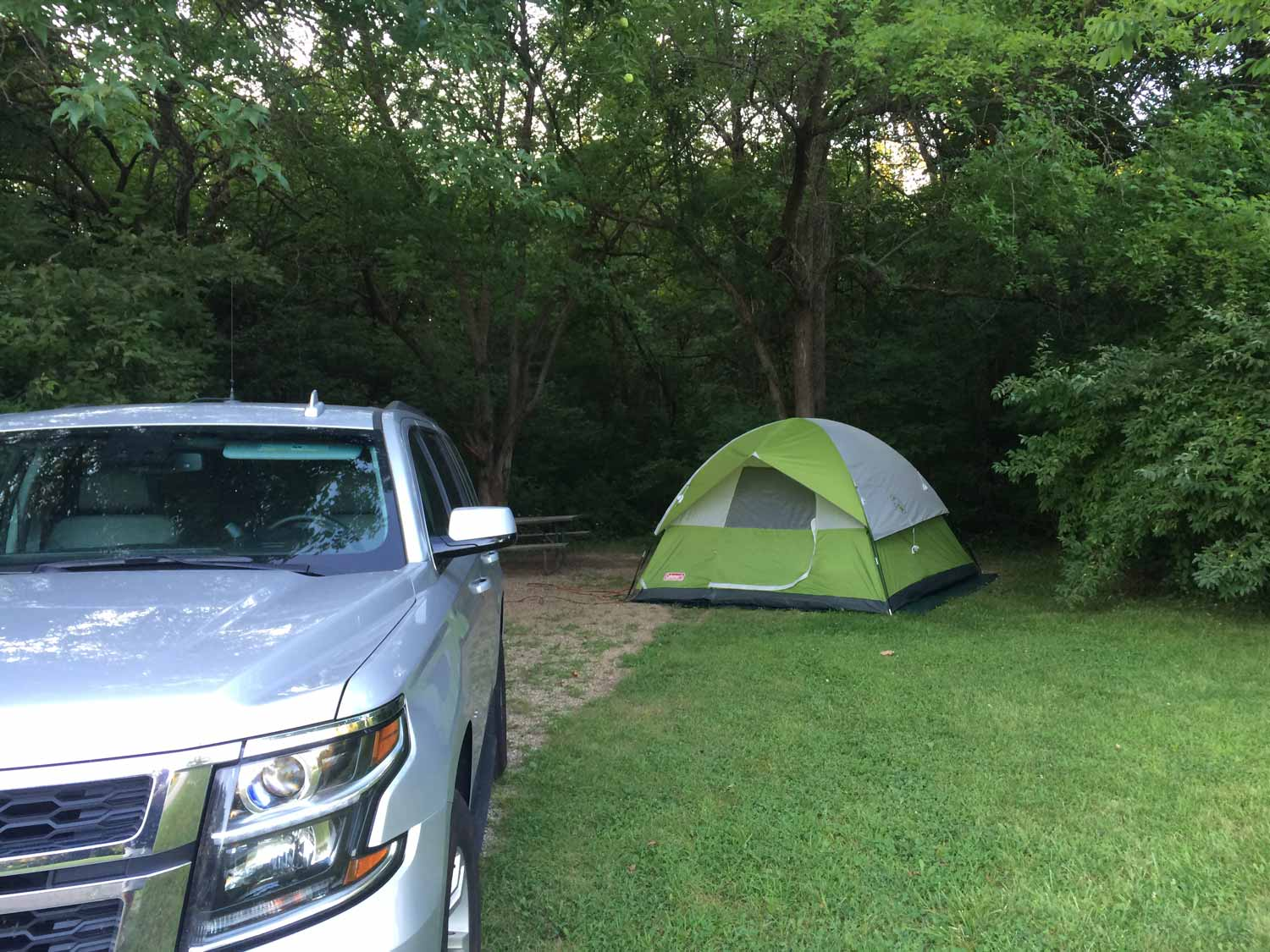 Illinois camp site