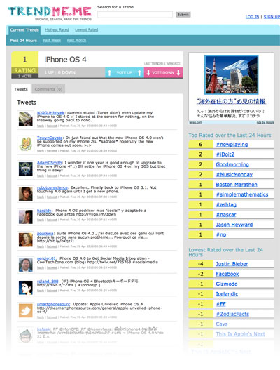 TrendMeme Trend Page