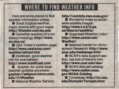 Weather links from 1995