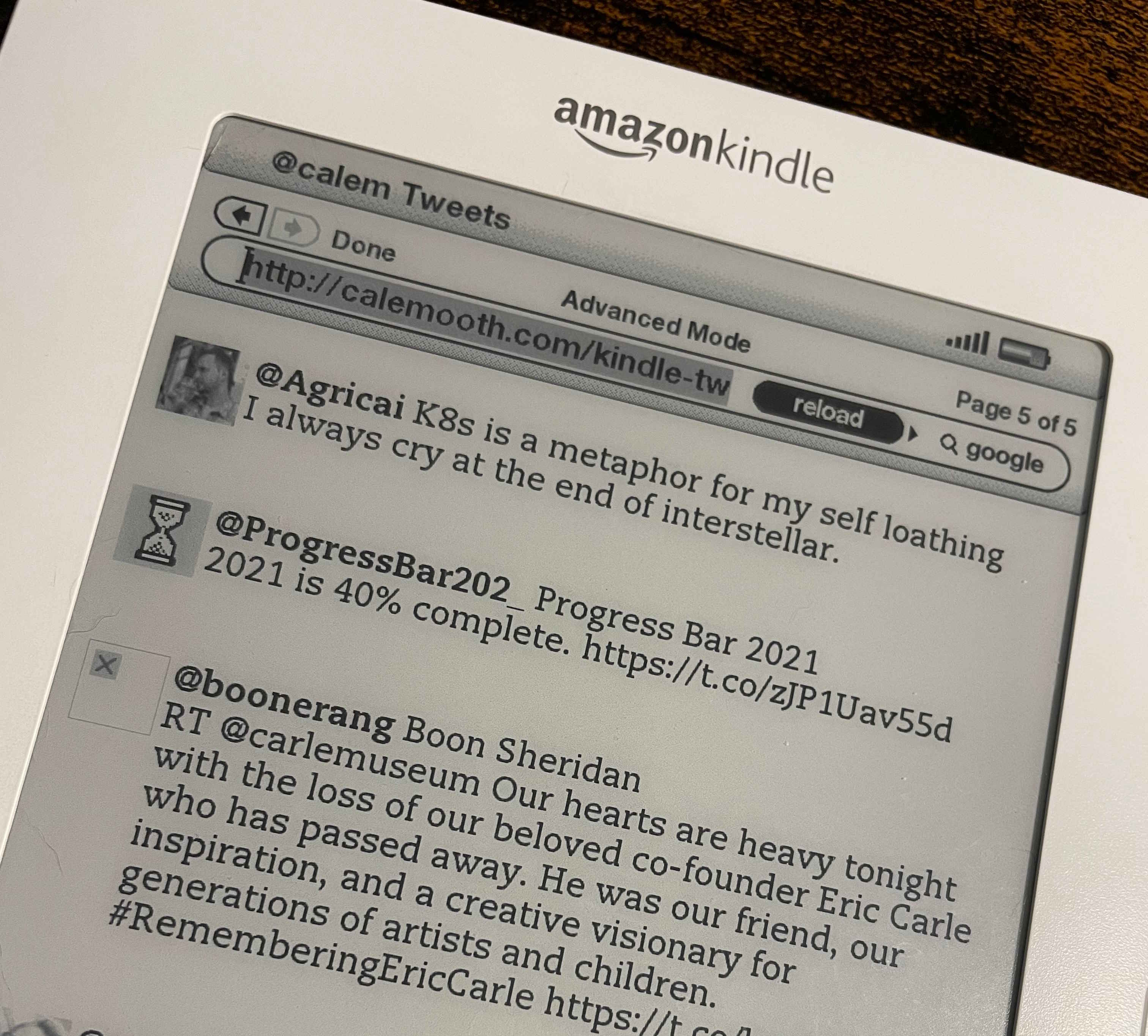 Second Generation Amazon Kindle with Twitter